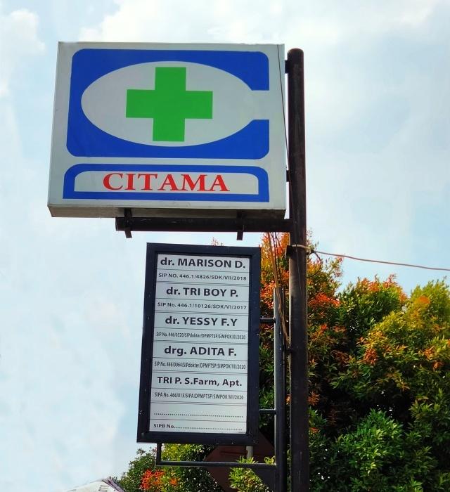 neon box plang nama rumah sakit
