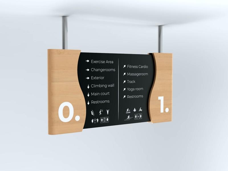 signboard papan petunjuk ruangan